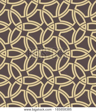 Seamless background for your designs. Modern vector golden ornament. Geometric abstract pattern