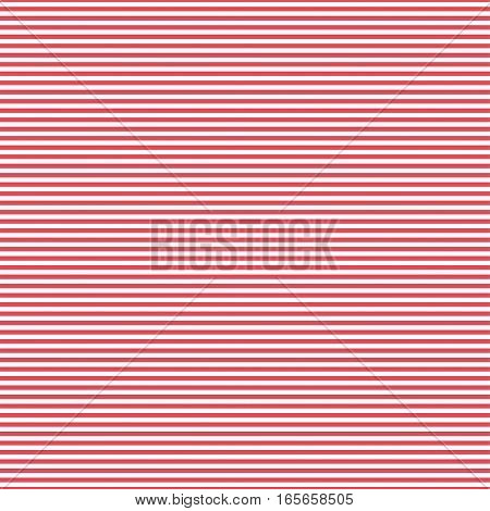 Red simple stripes abstract seamless vector pattern, geometric primitive background