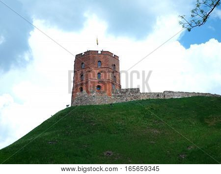 Gediminas' Tower, the remaining part of the Upper Castle in Vilnius, Lithuania