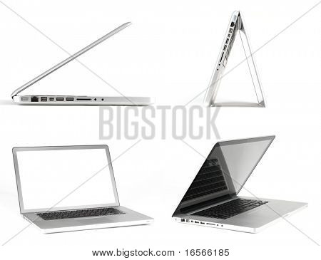 Modern laptop on white background