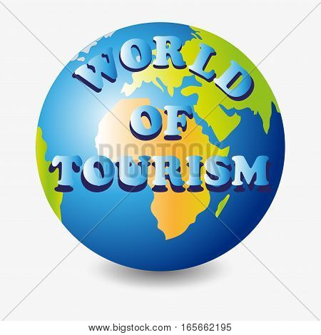 World of tourism. Planet.Vector image. Option logo, logo, icons , screensavers for the website blog.