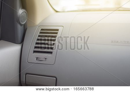 Air conditioner. the air flow inside the car.