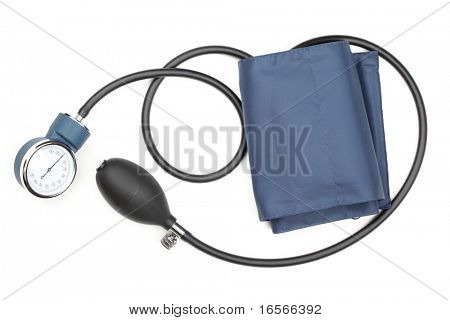 Blood pressure cuff,isolated on white. ....