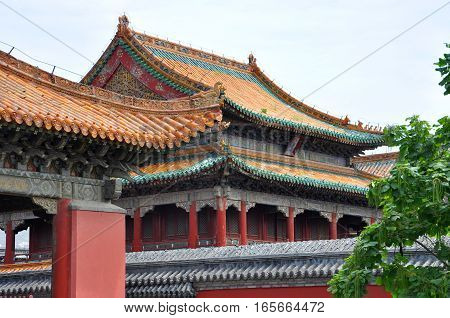 Chongmo Pavilion in the Shenyang Imperial Palace (Mukden Palace), Shenyang, Liaoning Province, China. Shenyang Imperial Palace is UNESCO world heritage site built in 400 years ago.