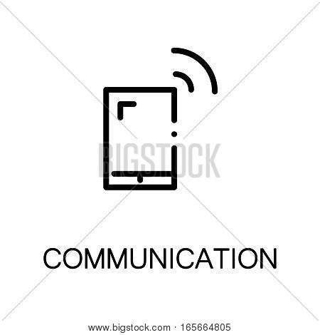 Phone icon. Single high quality outline symbol for web design or mobile app. Thin line sign for design logo. Black outline pictogram on white background