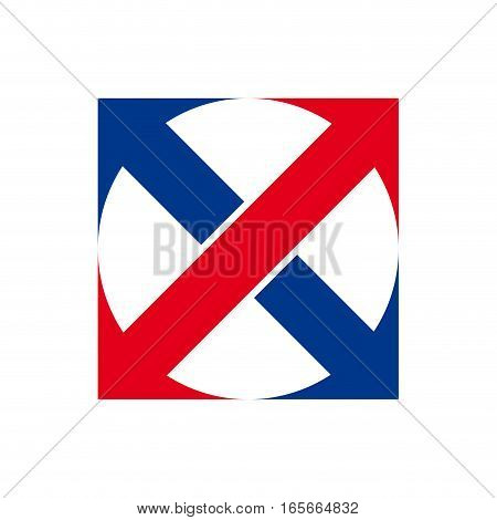 Vector sign import export with arrows, isolated illustration