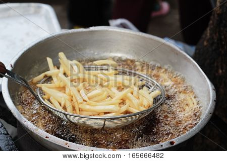French fries in the market is delicious