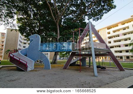 Rare and vintage playground in Dakota Crescent, Singapore
