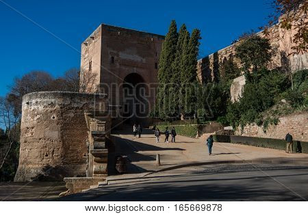 View Of The Gate Of Justice (puerta De La Justicia), The Most Impressive Gate To Alhambra Complex, G