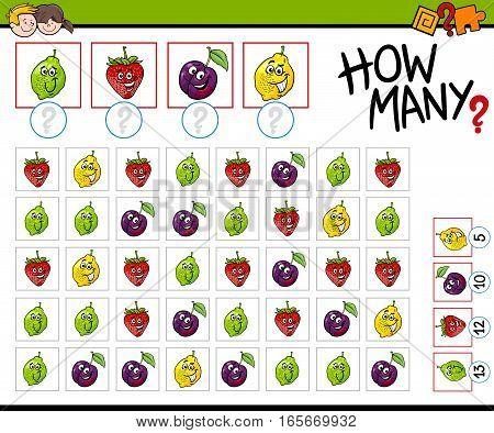 How Many Fruits Activity
