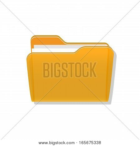 Open folder symbol icon on white. Vector
