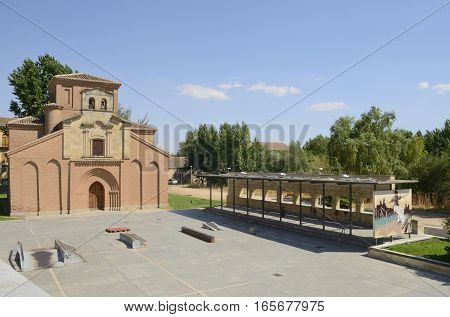 SALAMANCA, SPAIN - AUGUST 3, 2016: Skateboard plaza in front of Santiago church in the city of Salamanca Spain.