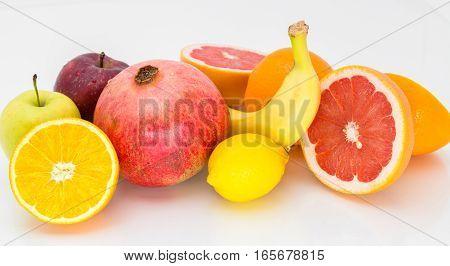 Fresh Fruit On A White Background.