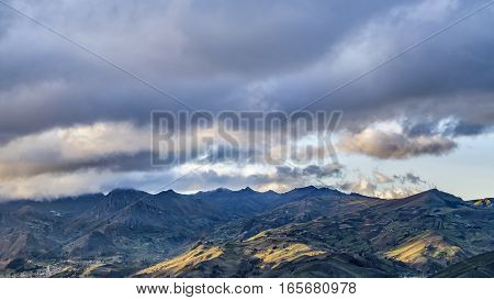 Andes Range From Top Of Quilotoa Crater001