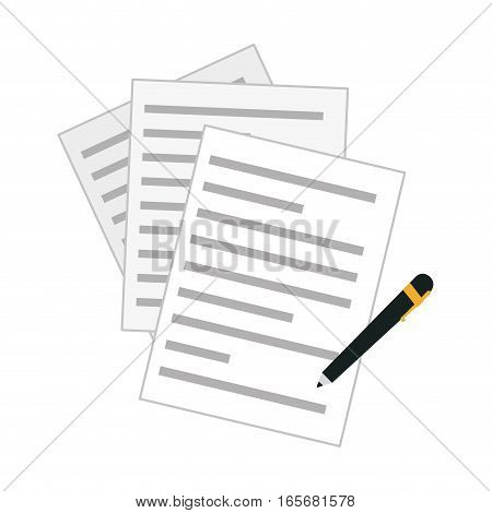 contract and pen icon image vector illustration design