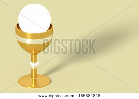 Golden Communion Chalice Eucharisty Wafer