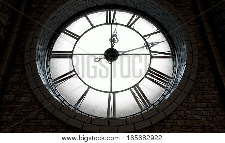 Antique Backlit Clock