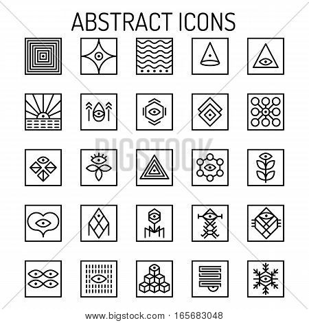 Abstract Line Icons