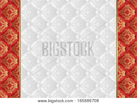 glossy background with vintage pattern - vector illustration