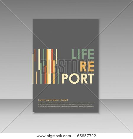Vector simple brochure design for your report.