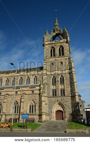 A view of an old church tower in Perth