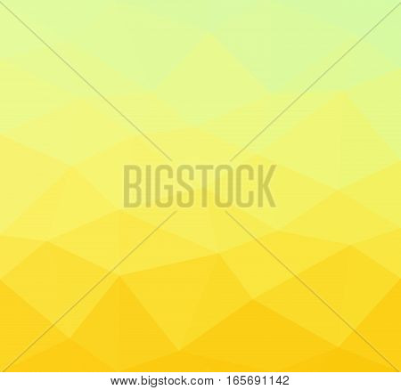 Gold geometric rumpled background. Low poly style gradient illustration. Graphic background.