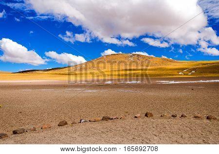 Beautiful landscape near San Pedro de Atacama Chile