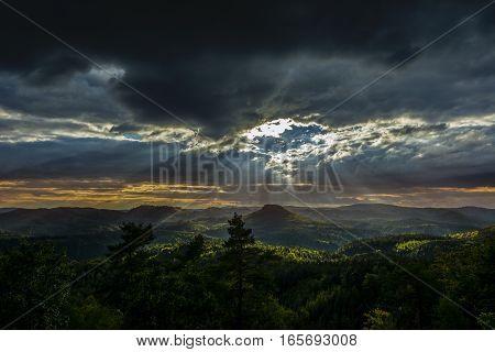 hole in the sky landscape clouds dark light