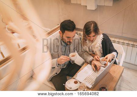 Businesspeople On A Break