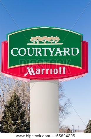Courtyard By Marriot Exterior Sign And Logo