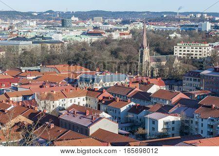 Haga district in Gothenburg in winter, travel Sweden