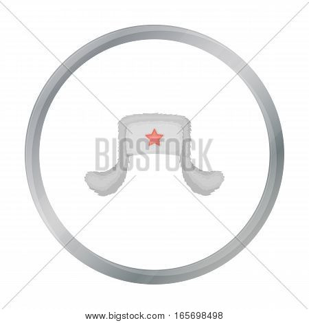 Ushanka icon in cartoon style isolated on white background. Hats symbol vector illustration.