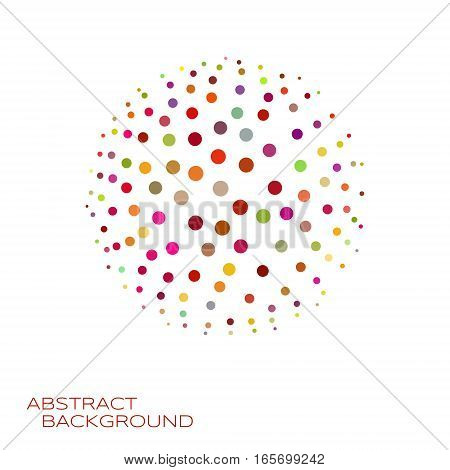 3d sphere vector illustration. Colorful abstract background design element consists of dots.
