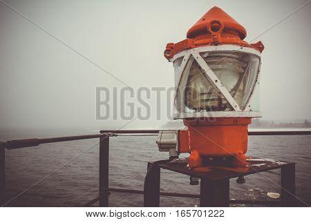 the lamp in the lighthouse, Leningrad oblast, Karelian isthmus, Russia