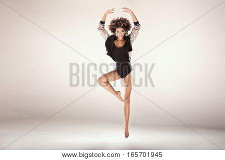 Modern Dancers In Studio.