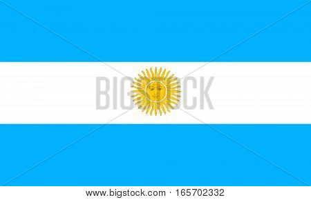 flat argentinian flag in the colors blue, yellow and white