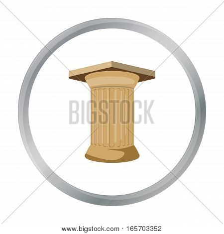 Antique column icon in cartoon style isolated on white background. Greece symbol vector illustration.