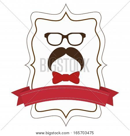 accesory hipster style face vector illustration design