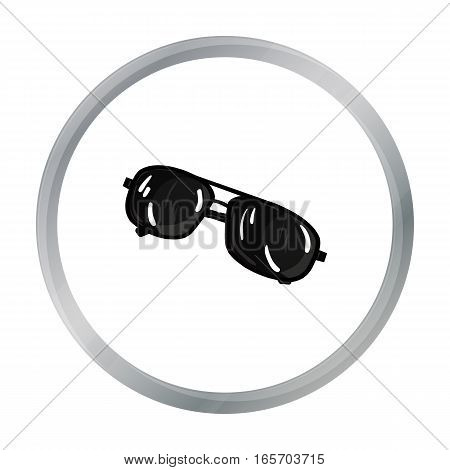 Aviator sunglasses icon in cartoon style isolated on white background. Golf club symbol vector illustration.