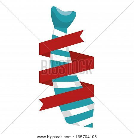elegant tie decoration icon vector illustration design