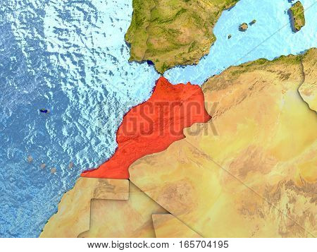 Morocco In Red
