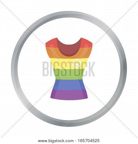 Dress icon cartoon. Single gay icon from the big minority, homosexual cartoon. - stock vector