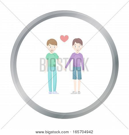 Gay icon in flat style isolated on white cartoon. Gay symbol vector illustration. - stock vector