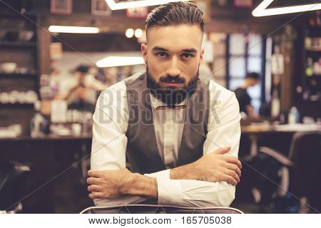 Handsome Stylish Barber