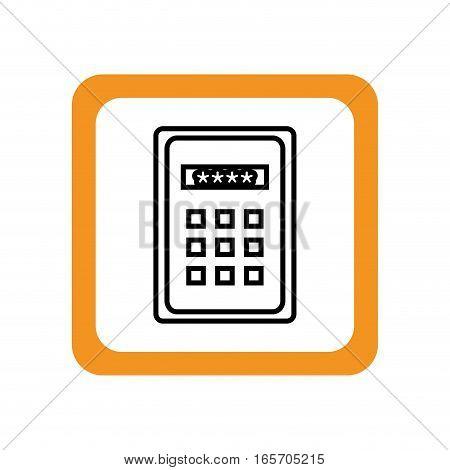control panel password keys vector illustration design