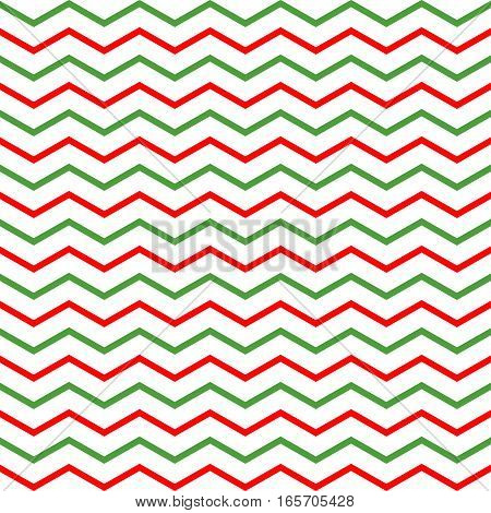 Striped pattern. Zigzag seamless pattern. Christmas pattern