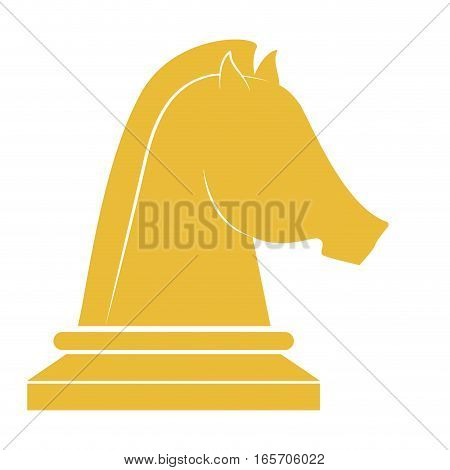 horse chess piece over white background. vector illustration
