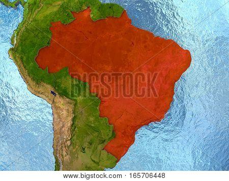 Brazil In Red