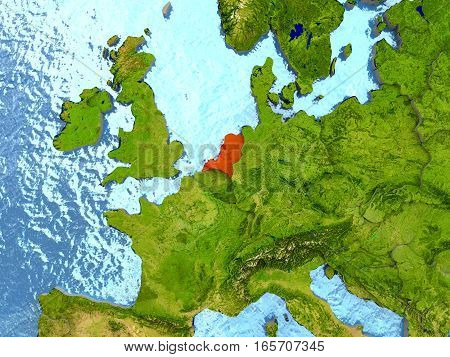 Netherlands In Red