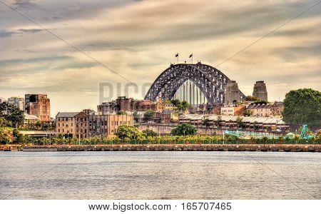 View of Sydney Harbour Bridge. Australia, New South Wales